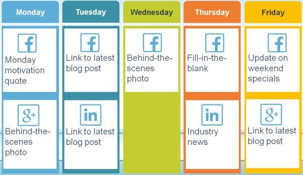 Social media weekly Calendar